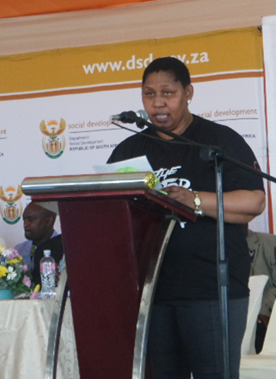 Programme Director Honourable Henrietta Bogopane- Zulu, Deputy Minister of Social Development