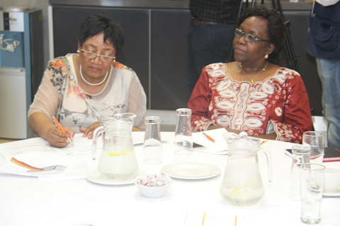 Mrs Weziwe Thusi, MEC for Social Development in Kwa-Zulu Natal and Dr Esther Muia, UNFPA Representative