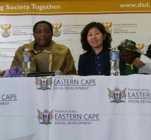 Minister Batabile Dlamini with Ms. Navchaa Suren, UNFPA Deputy Representative